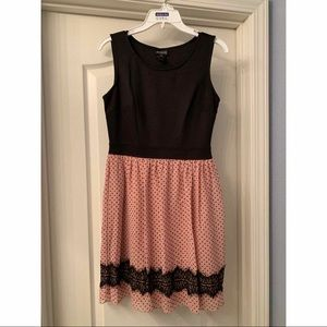 Pale Pink/Black Dress